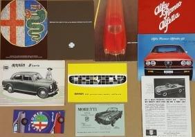 Italian car brochures - 1950's-1970's