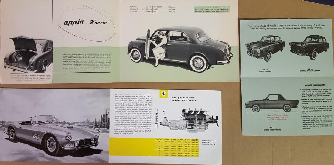 Italian car brochures - 1950's-1970's - 2