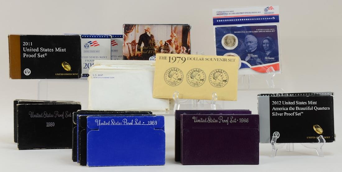 Group of US Proof and Mint Sets