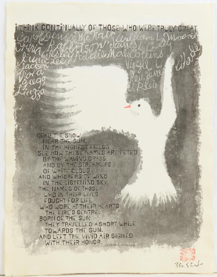Ben Shahn & Spender Peace Dove