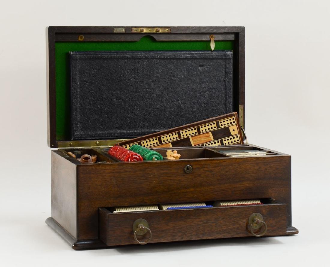 English Oak Cased Games box
