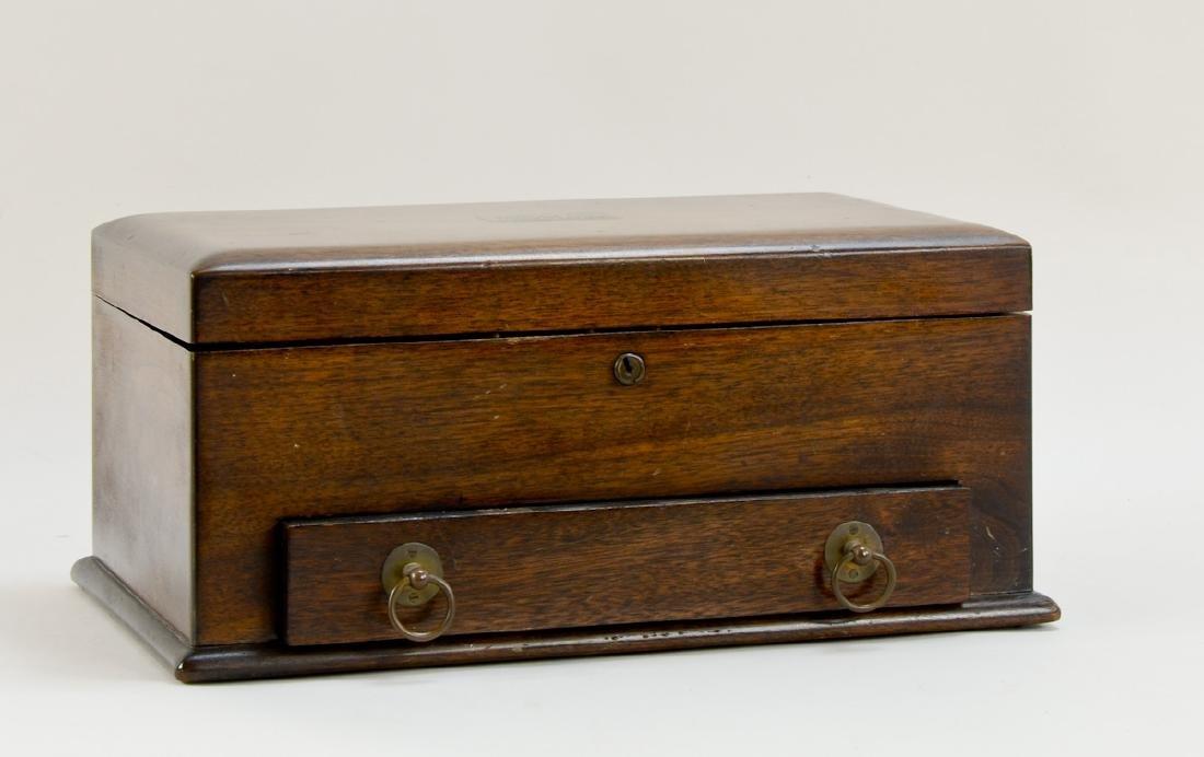 English Oak Cased Games box - 2