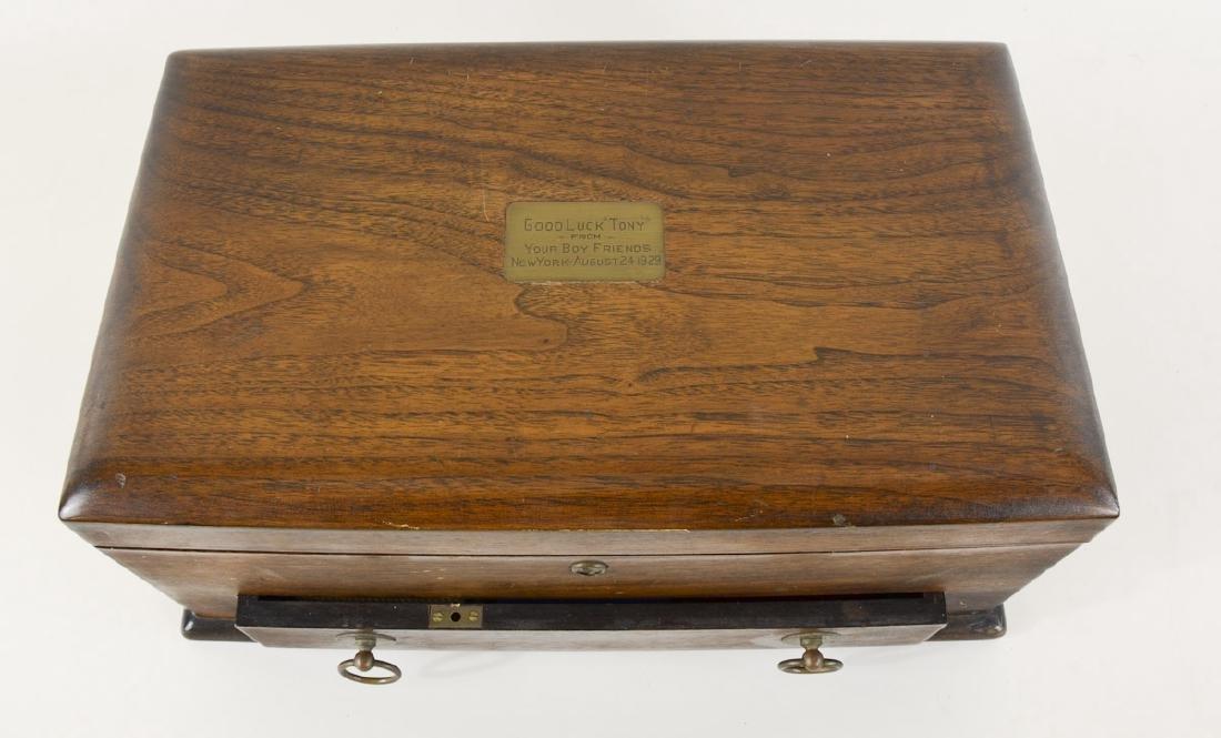 English Oak Cased Games box - 3