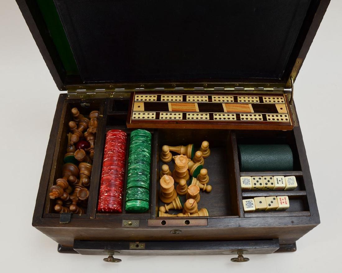 English Oak Cased Games box - 4