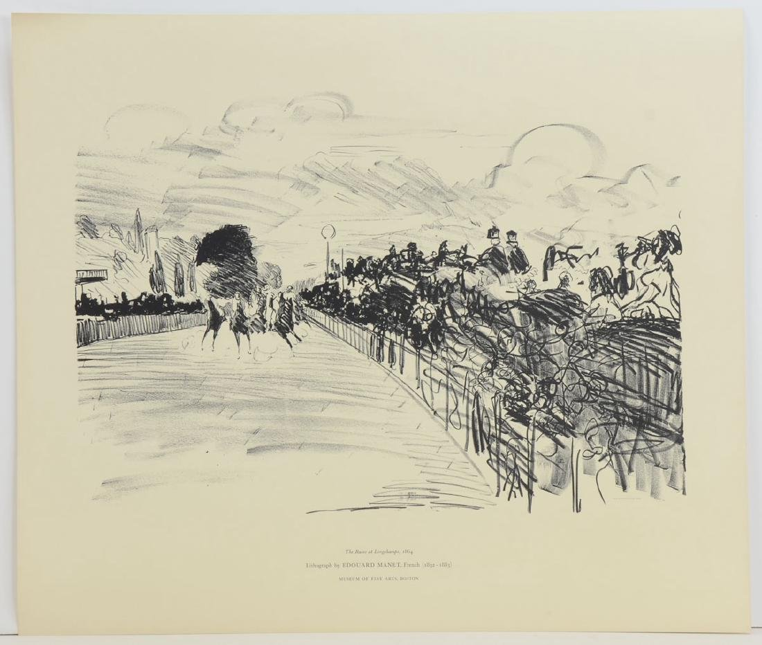 Edouard Manet Lithograph The Races at Longchamps