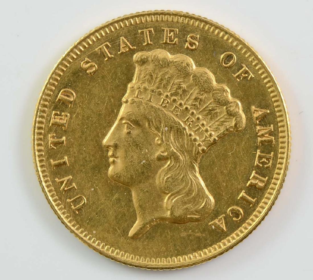 1874 $3 Gold Indian Princess Head