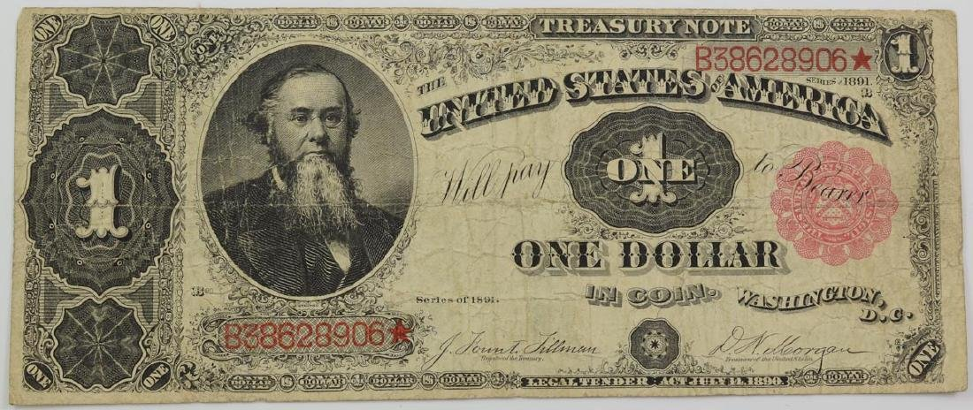 $1 Treasury Note Series of 1891