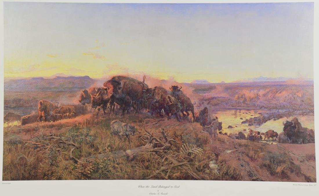 Charles M. Russel lithograph