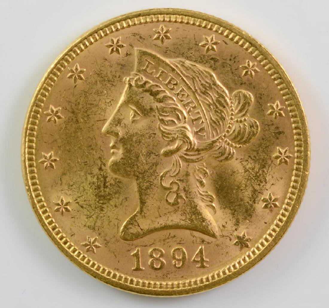 1894 $10 Liberty Gold Eagle Coin