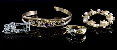 Group of Estate Gold Jewelry