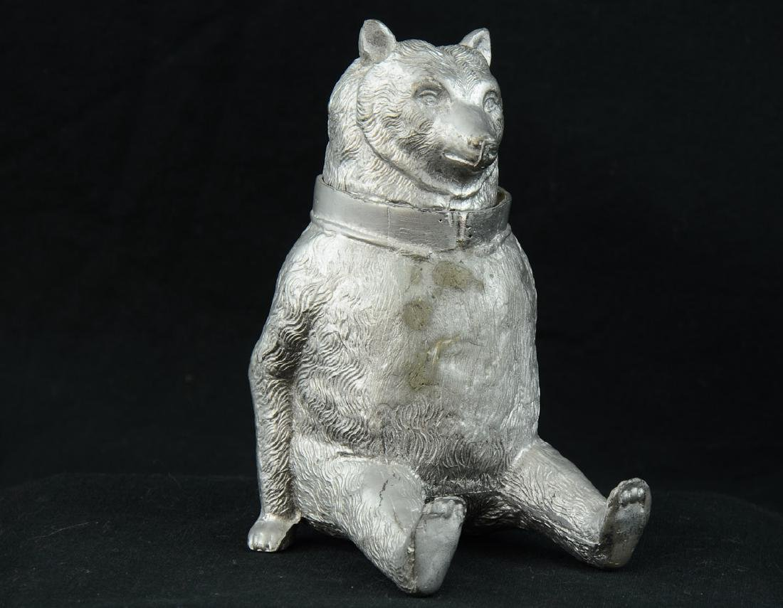 Antique Figural Bear Inkwell