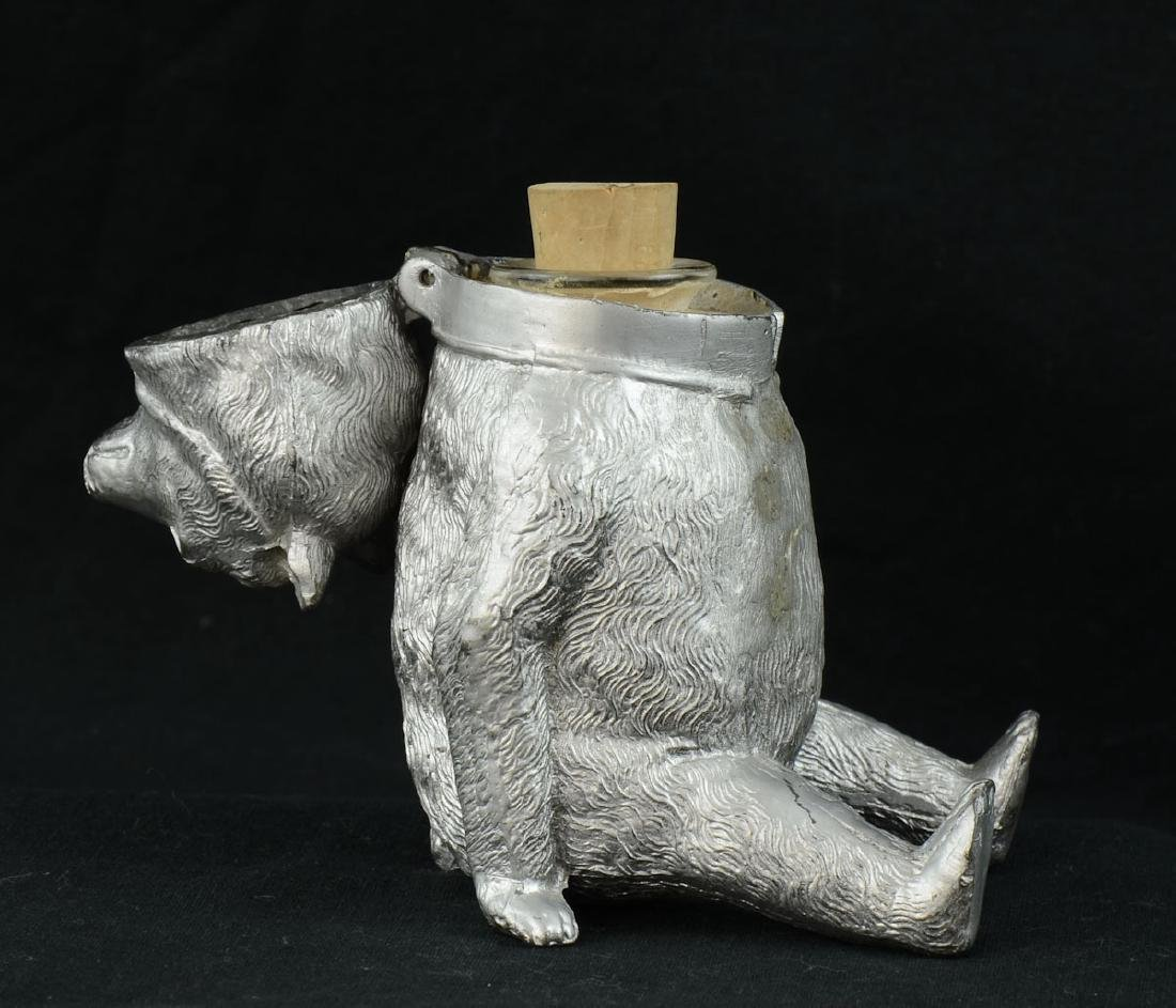 Antique Figural Bear Inkwell - 2