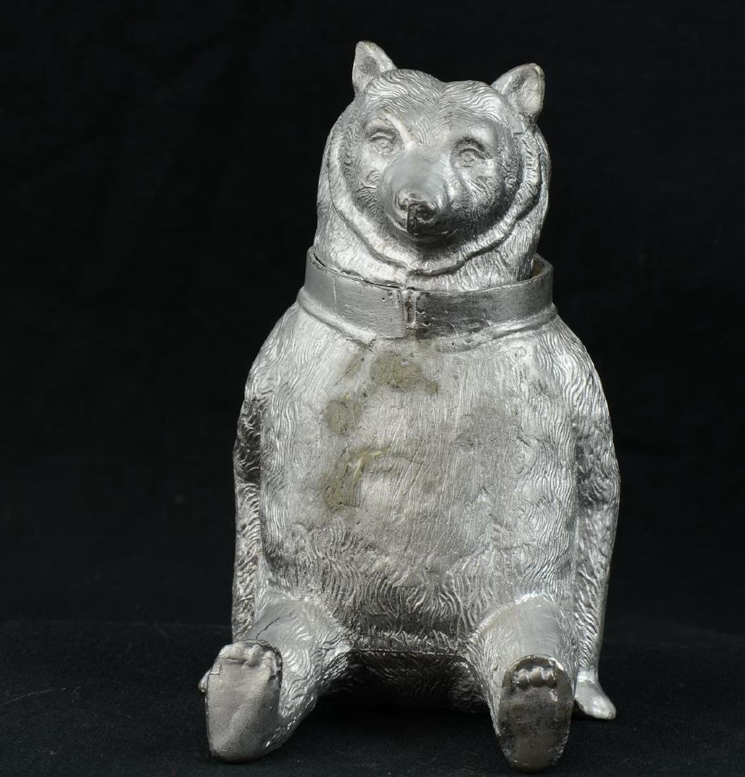 Antique Figural Bear Inkwell - 3