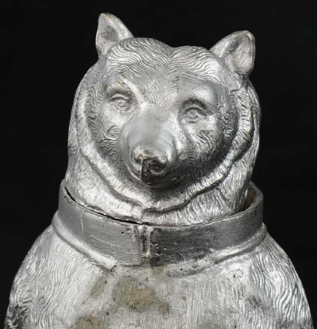 Antique Figural Bear Inkwell - 4