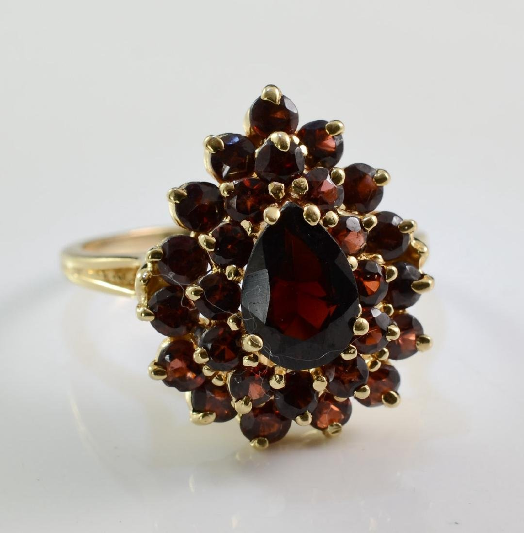 Ladies 14K Garnet Ring