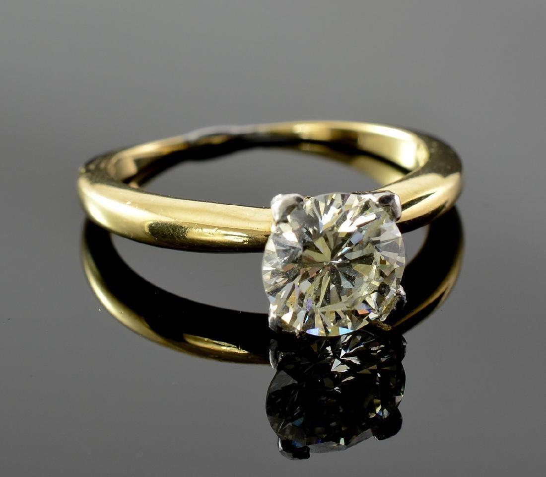 Ladies 18K Diamond Solitaire Ring