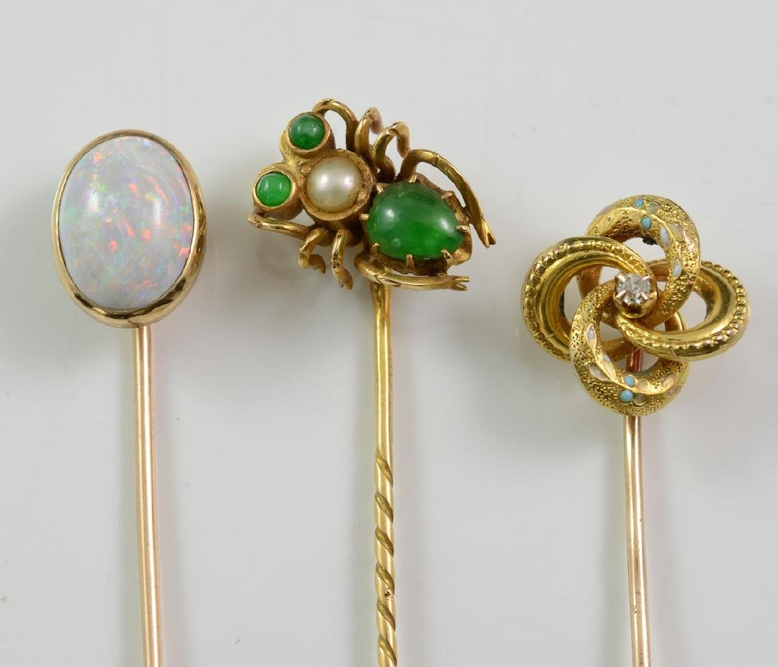 Three Antique Stick Pins