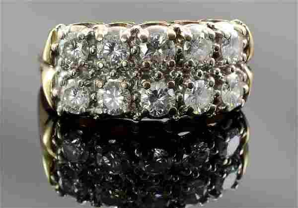 Ladies 14k Multi Diamond Ring