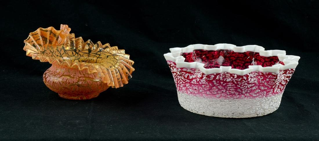 Two Pieces American Art Glass