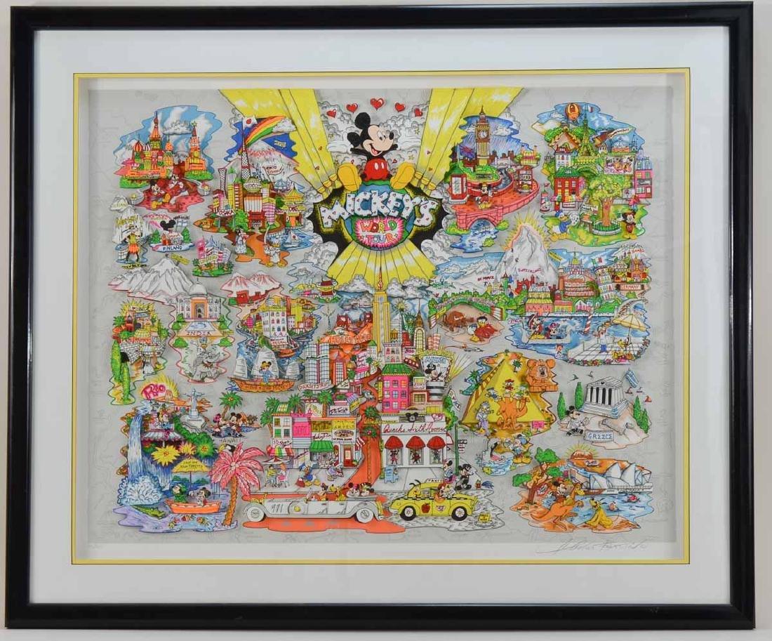 Charles Fazzino: Mickey's World Tour