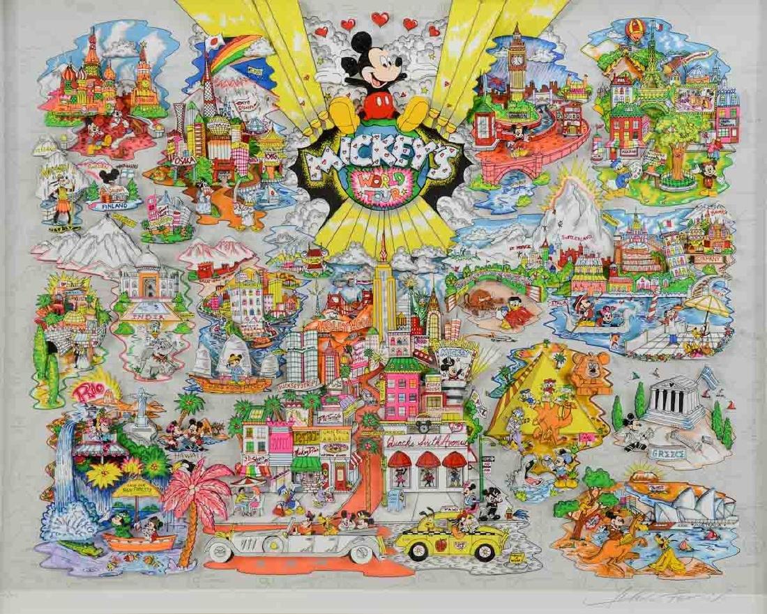 Charles Fazzino: Mickey's World Tour - 3