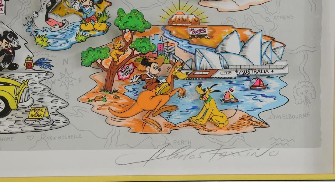 Charles Fazzino: Mickey's World Tour - 4