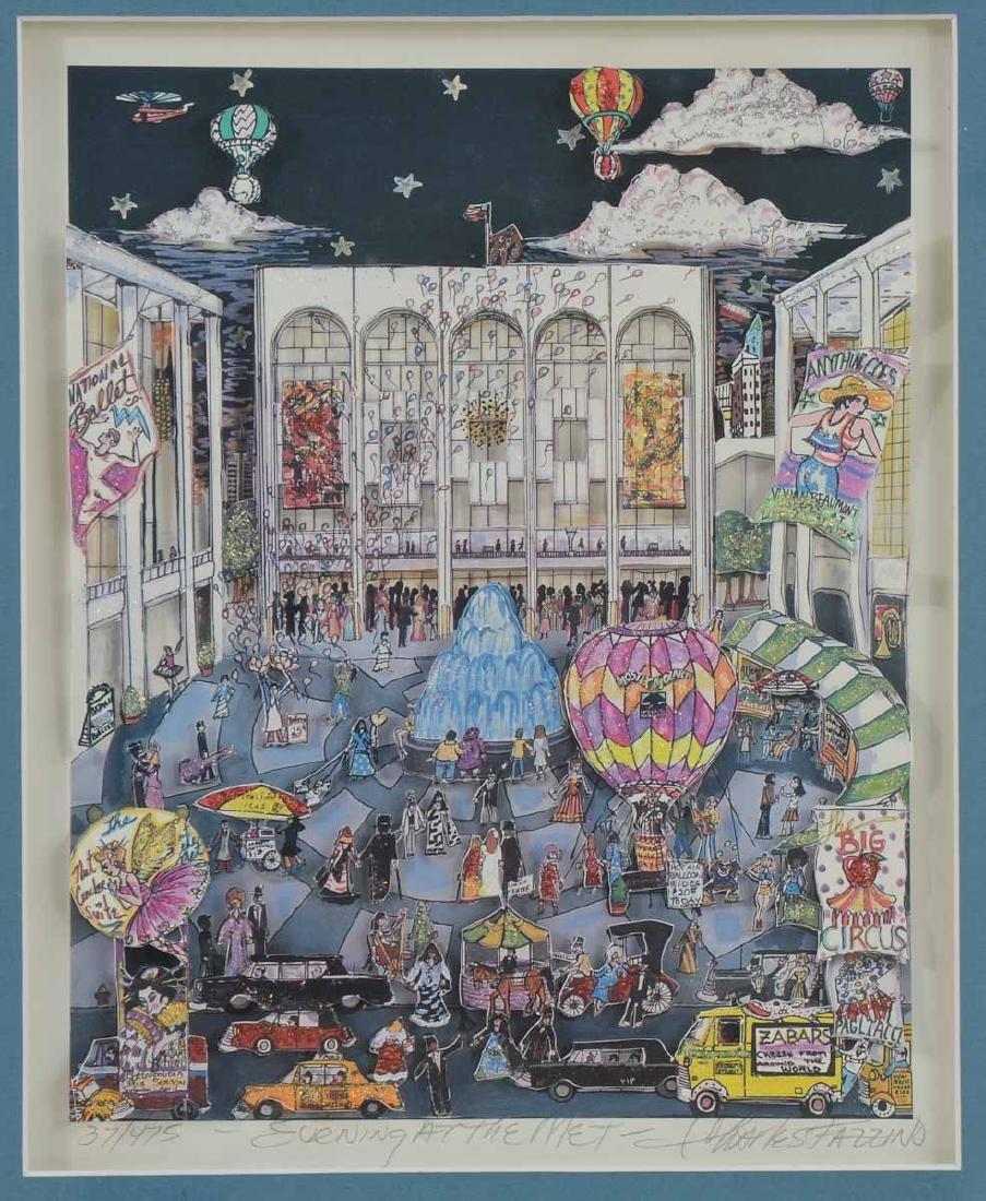 "Charles Fazzino ""Evening at the Met"""