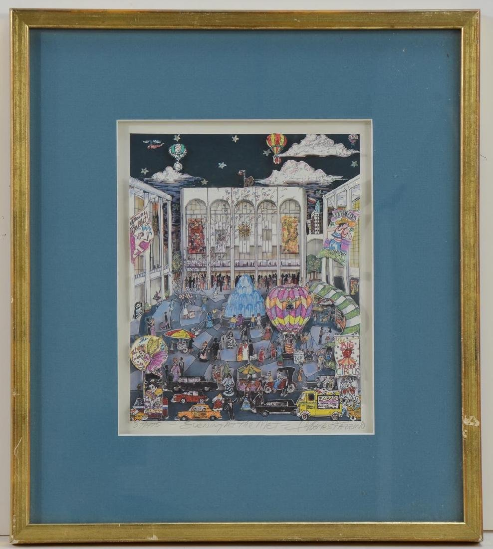 "Charles Fazzino ""Evening at the Met"" - 2"