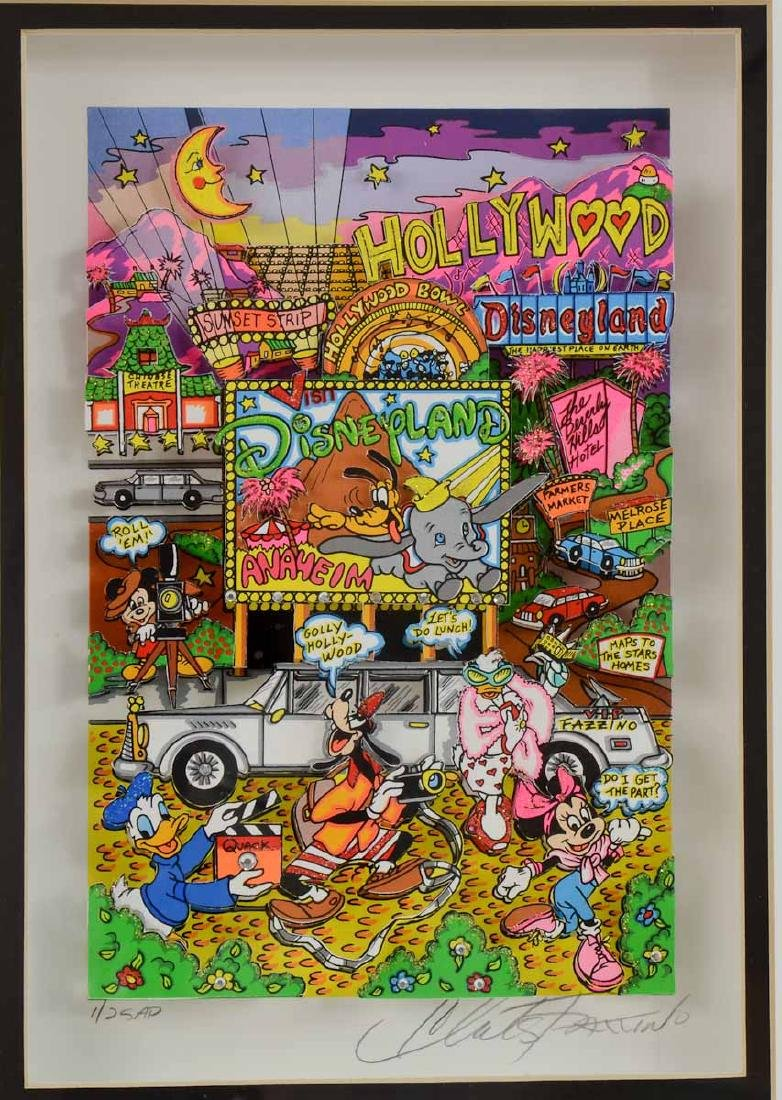 Charles Fazzino Hollywood Disneyland Pop Art - 2