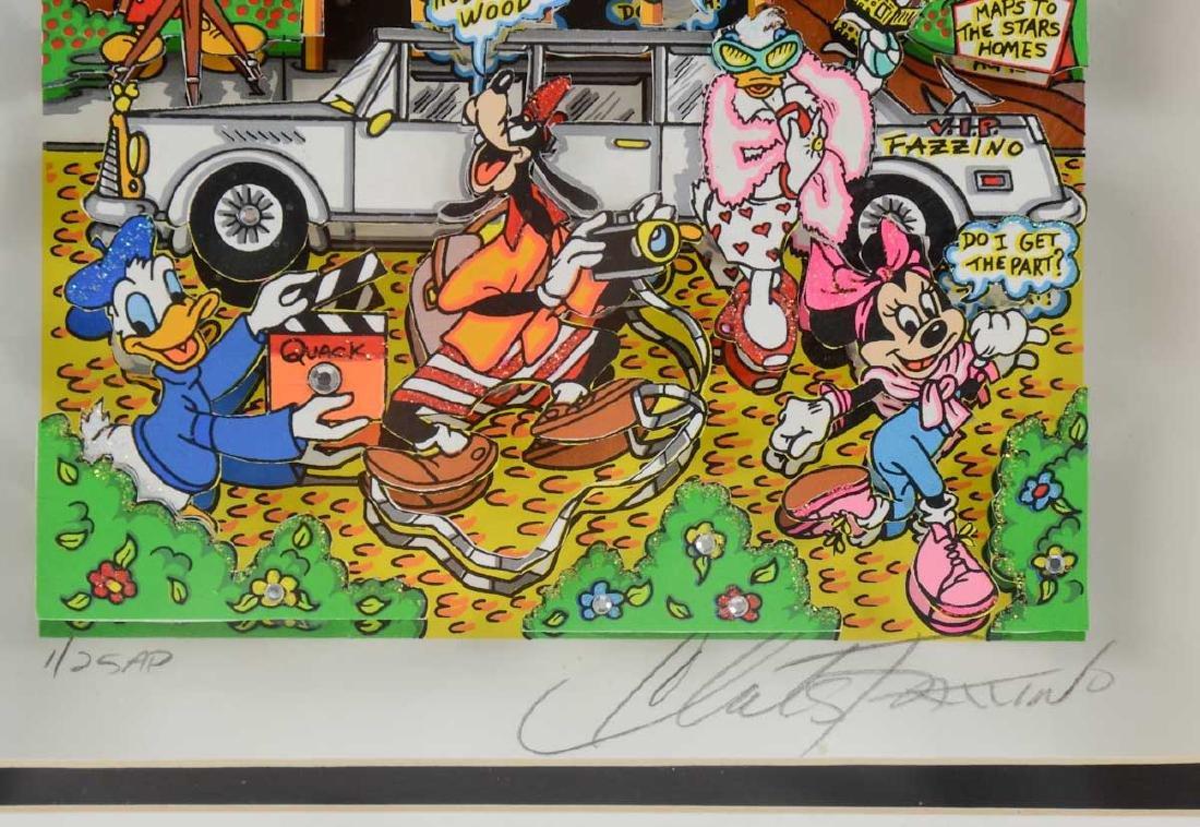 Charles Fazzino Hollywood Disneyland Pop Art - 3