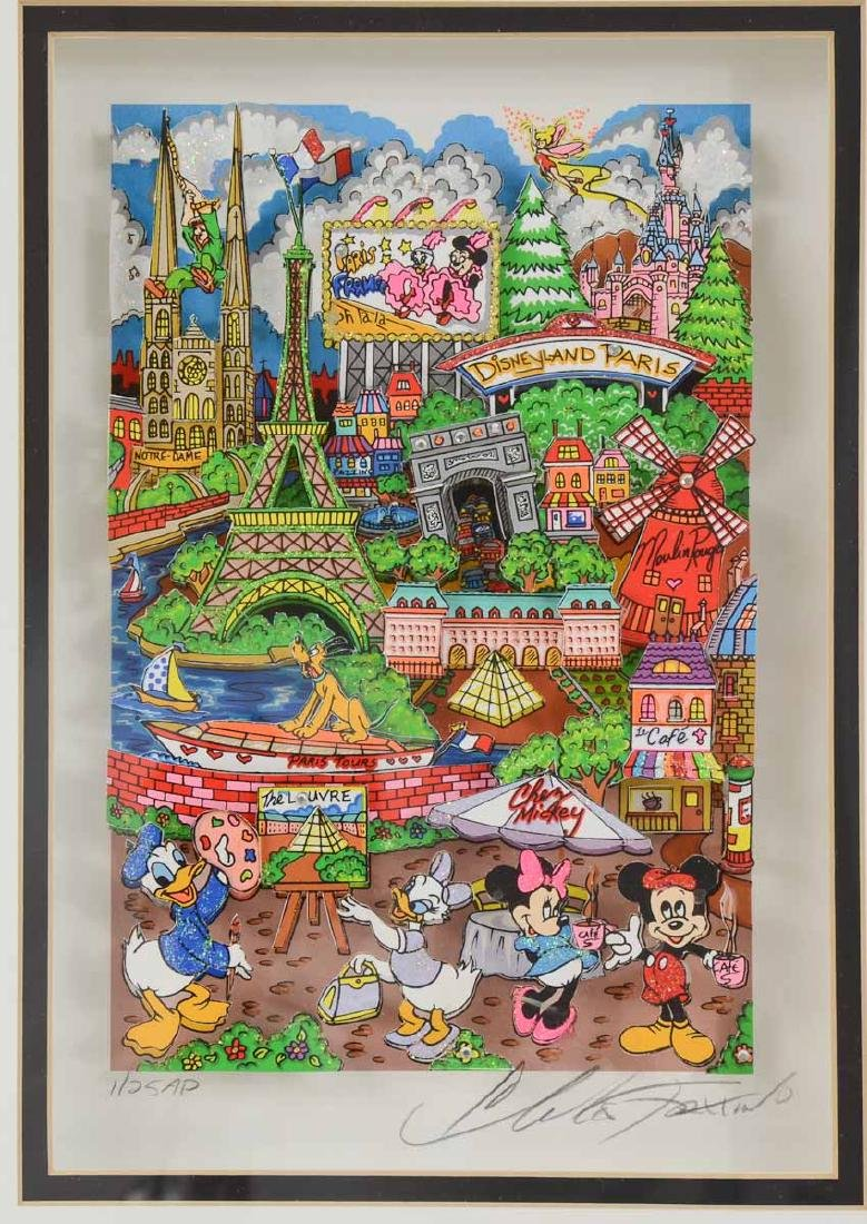 Charles Fazzino Disney Paris Pop Art - 2