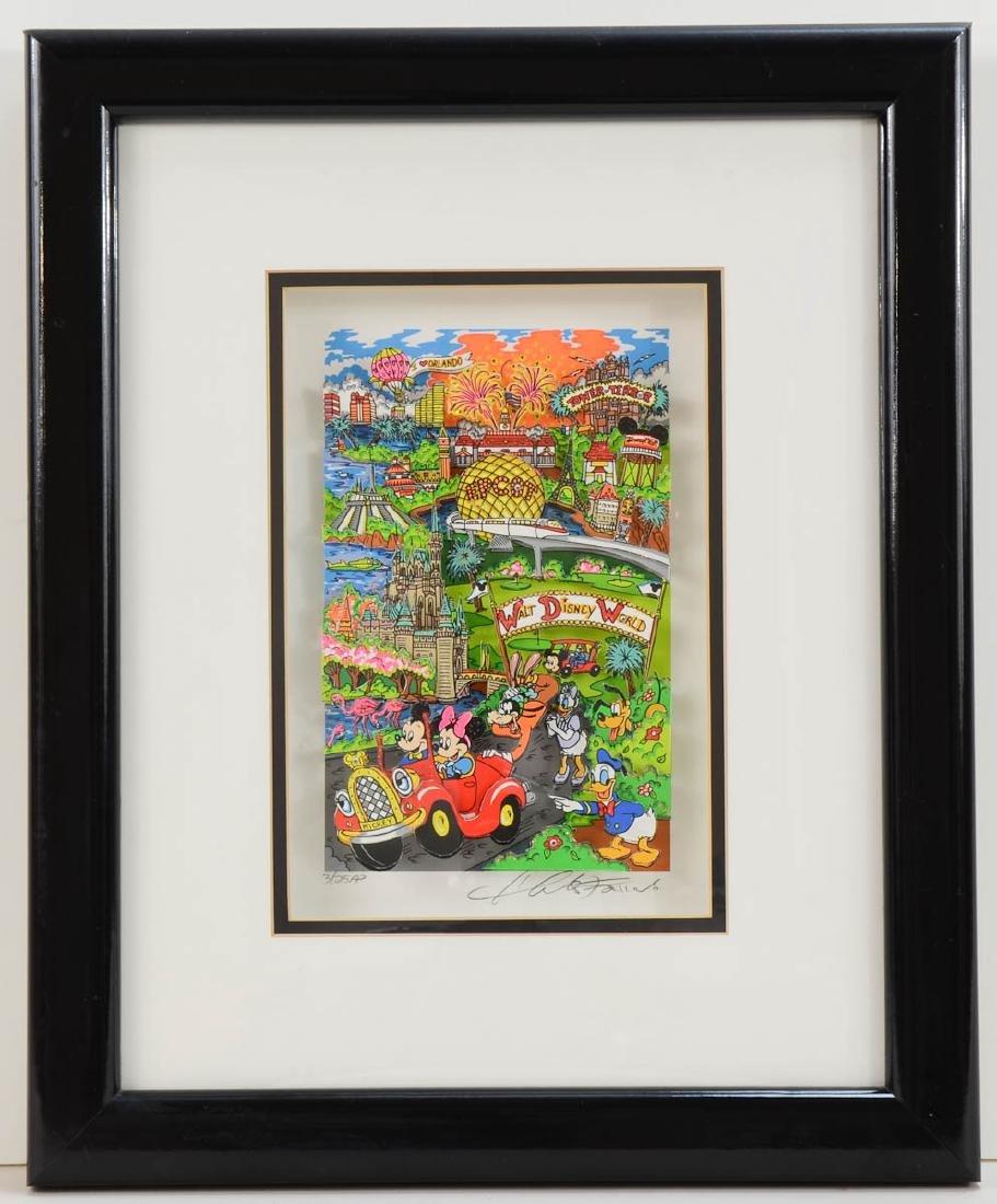 Charles Fazzino Walt Disney World Pop Art