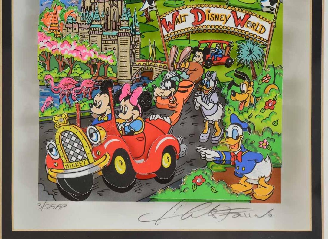 Charles Fazzino Walt Disney World Pop Art - 3