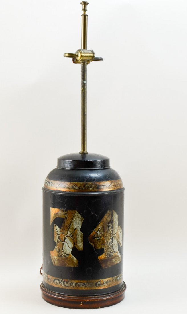 Tole Painted Table Lamp