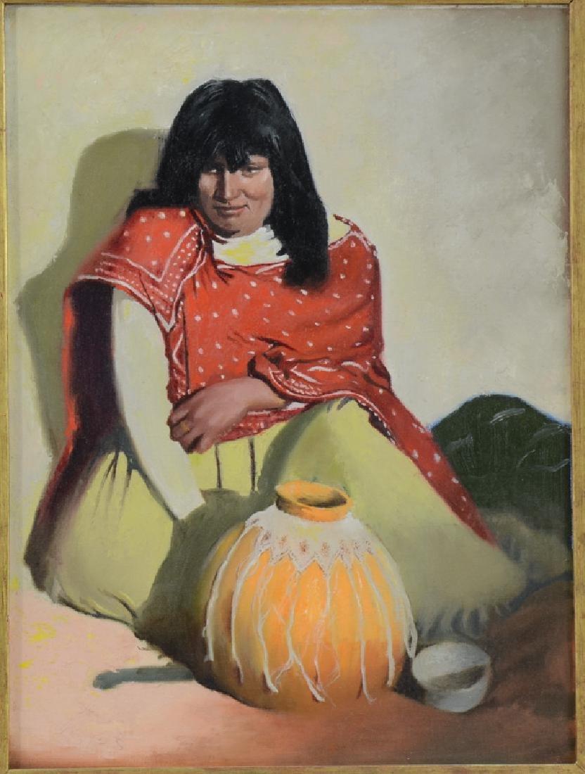 Southwest Style Portrait Painting