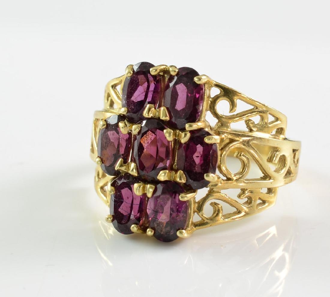 Ladies 10K Amethyst Ring