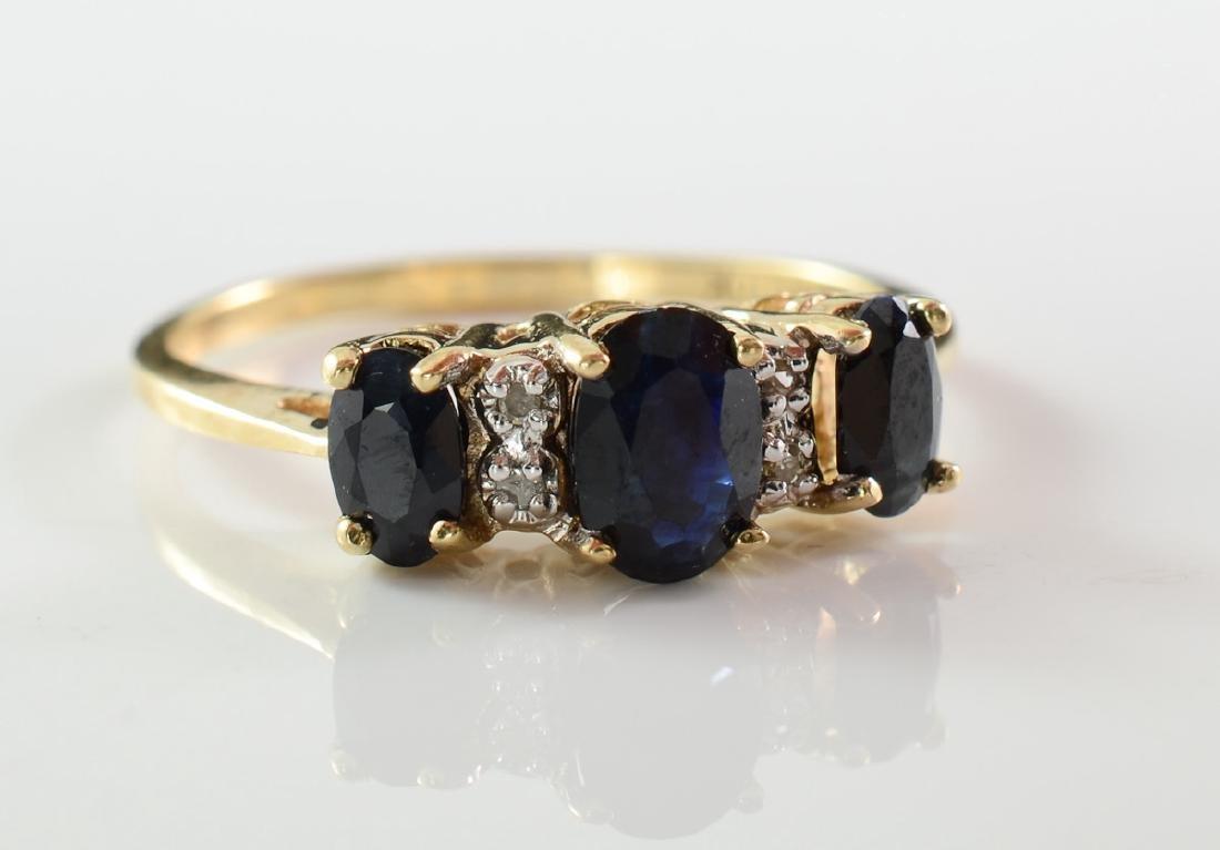 Ladies 10K Gemstone Ring