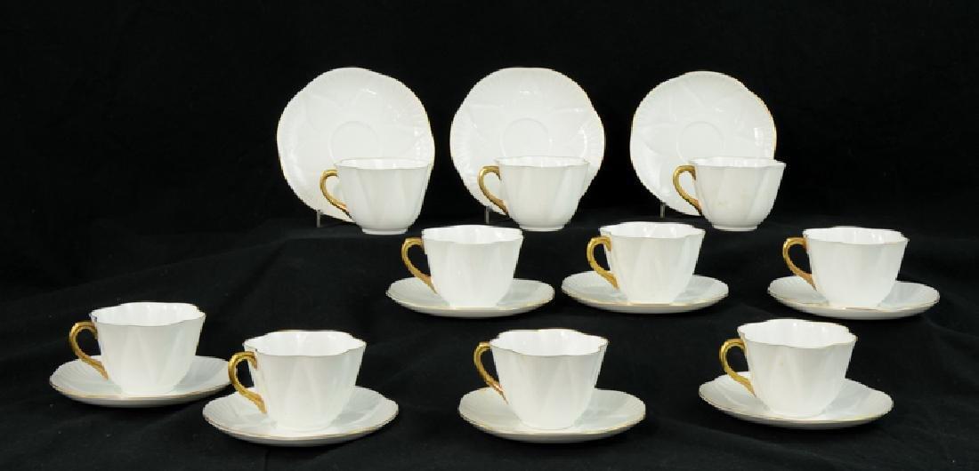 Ten Shelley Bone China Tea Cups