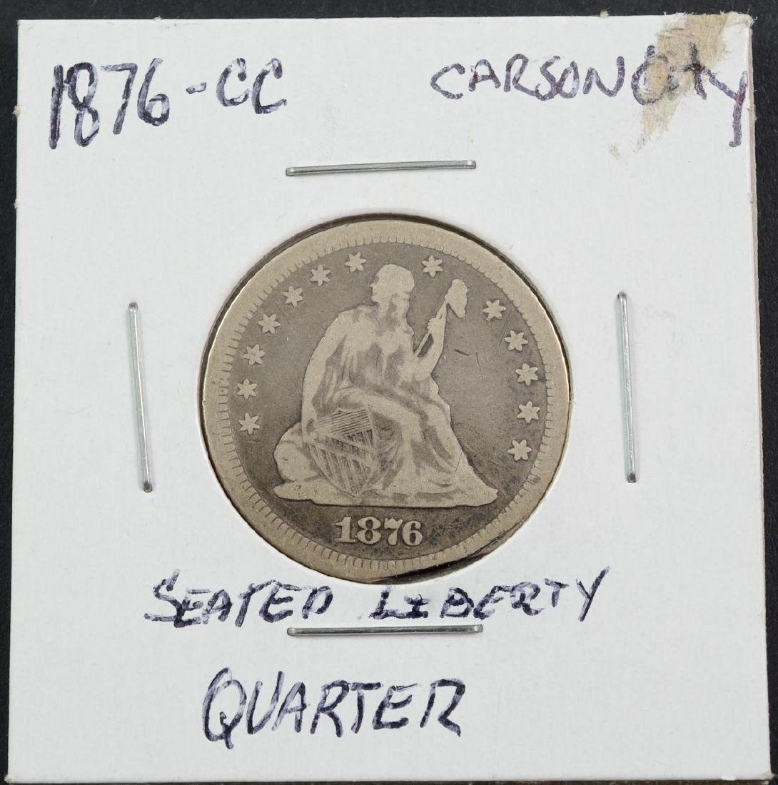 1876-CC Seated Liberty Quarter