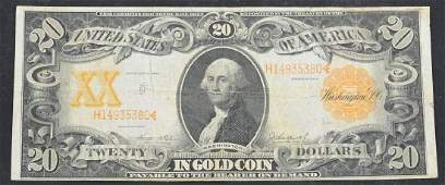 Series of 1906 $20 Gold Coin Note