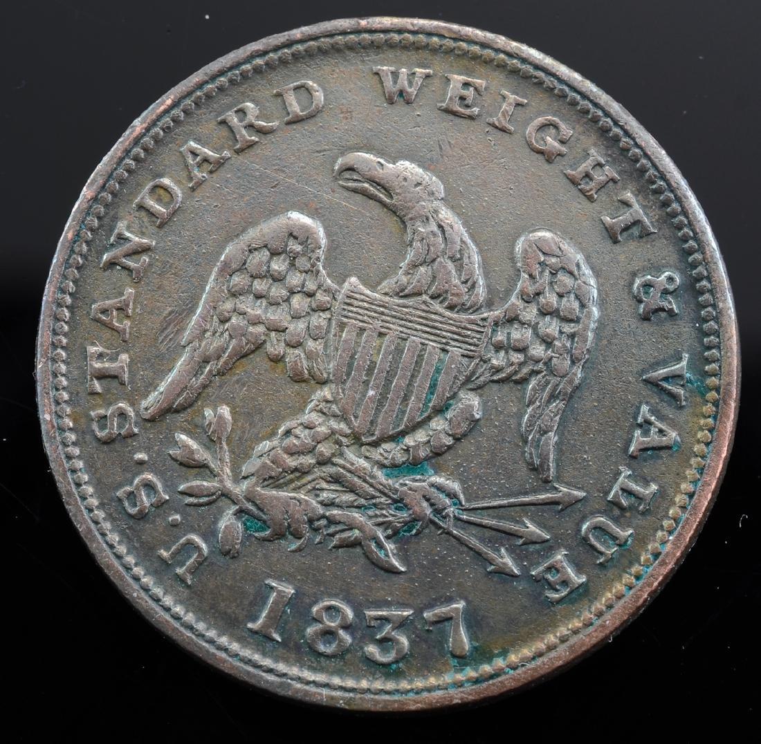 1837 Half Cent Hard Times Token