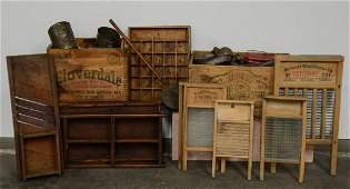 Antique Tins, Washboards, country items