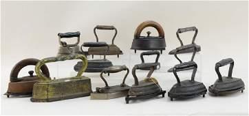 13 Sad Irons, 8 Trivets