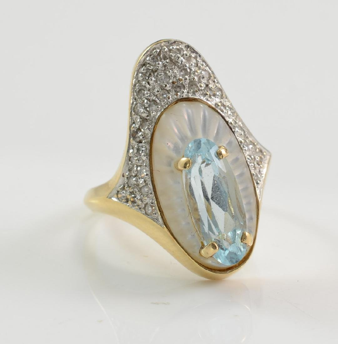 14K Erte Alouette Cocktail Ring