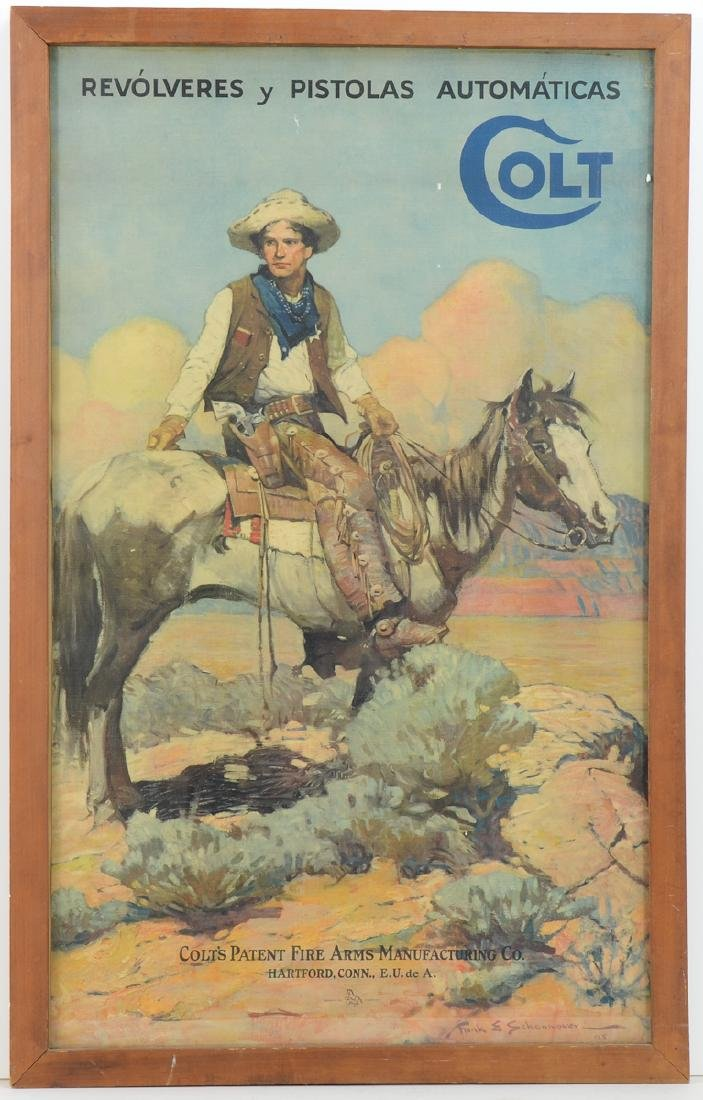 Colt Firearms Advertising Poster
