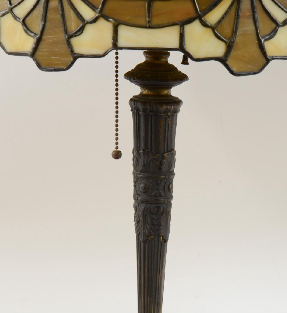 Antique Leaded Glass Table Lamp - 2