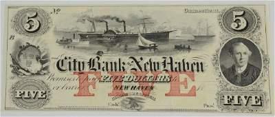 New Haven CT Broken Bank Note