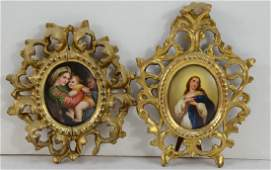 Two Antique Porcelain Miniatures