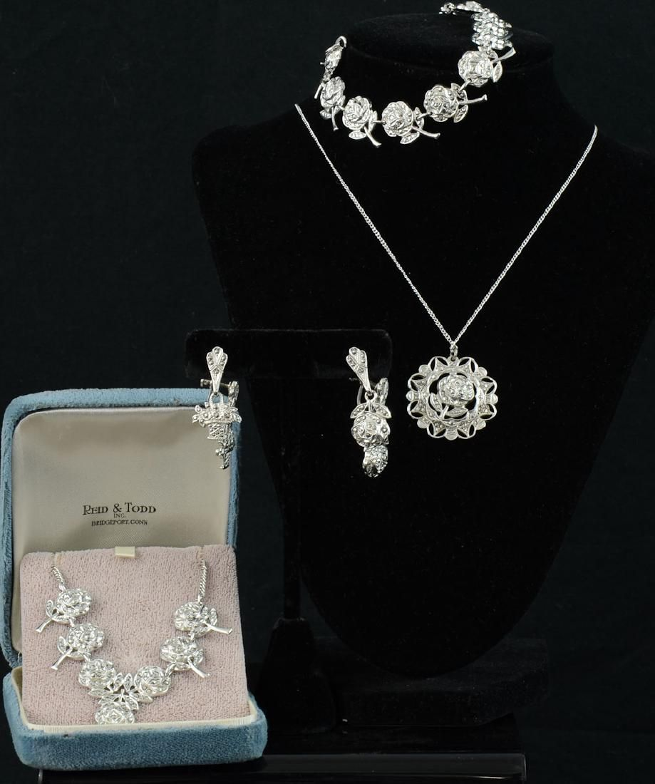 Sterling Silver and Marcasite Jewelry group