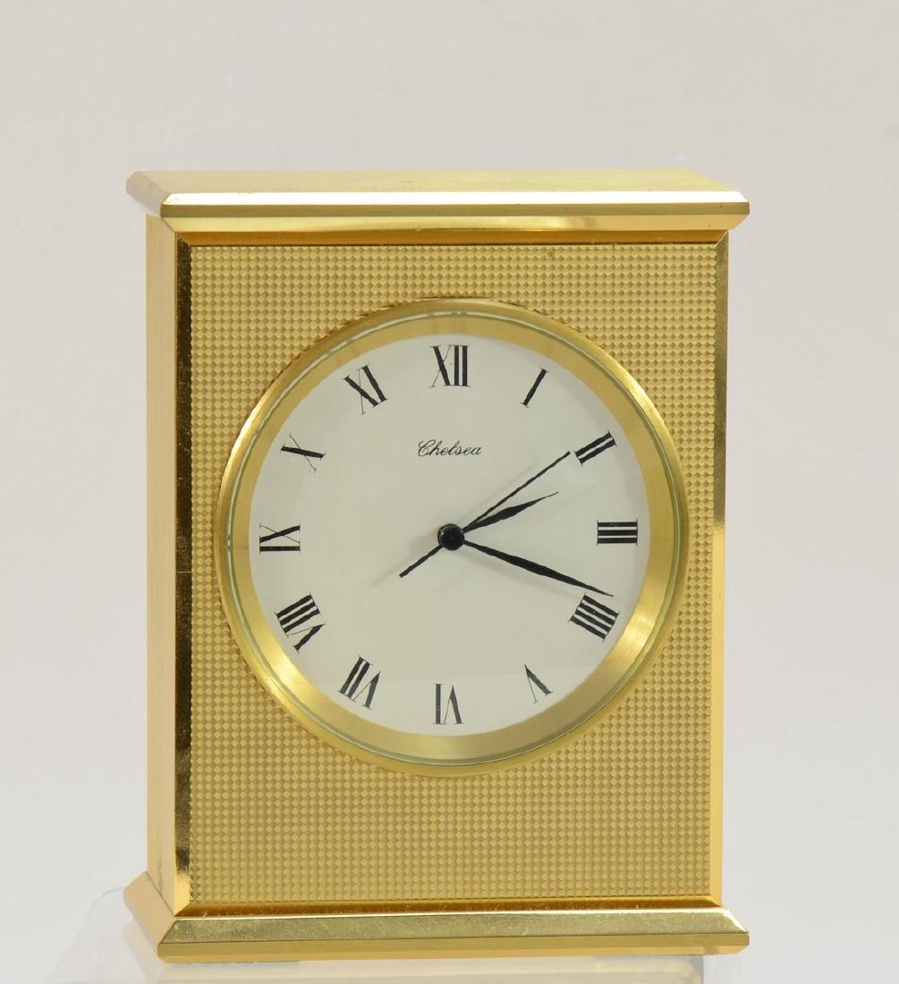 Chelsea Brass Desk Clock